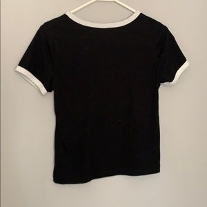 Divided Tops - Black and White T-Shirt